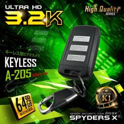 A-205/キーレス型カメラ/当店販売の小型カメラ最高画質の3.2 Kが遂に登場/高解像テレビで再生するならこれ/64GBメモリ内蔵