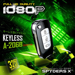 最新キーレス型カメラ  スパイダーズX A-260B ダミーキー付き 32GB対応