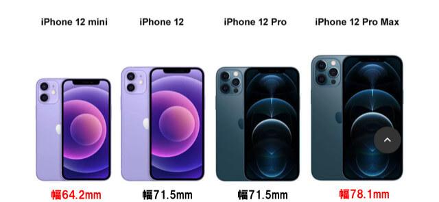 iPhone12の幅